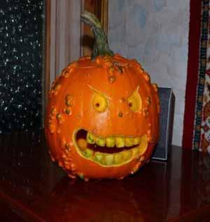 Хеллоуин, прикольные тыквы