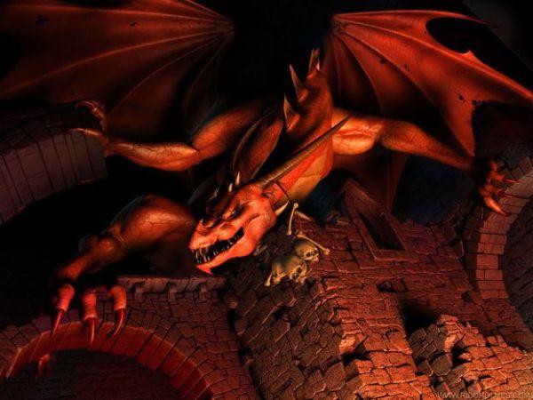 рисованные драконы